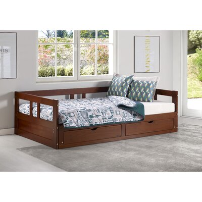 Bechtold Twin Platform Day Bed with Storage Bed Frame Color: Chestnut