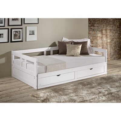 Bechtold Twin Platform Day Bed with Storage Bed Frame Color: White