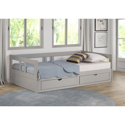 Bechtold Twin Platform Day Bed with Storage Bed Frame Color: Dove Gray