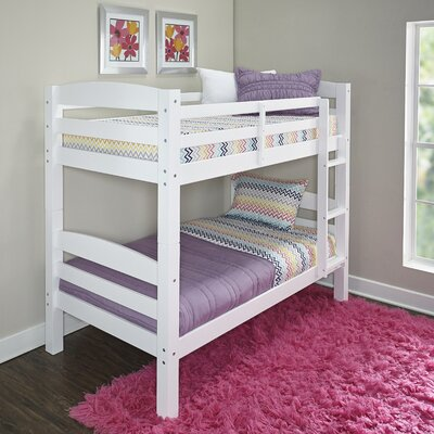 Jailyn Twin over Twin Bunk Bed Color: White