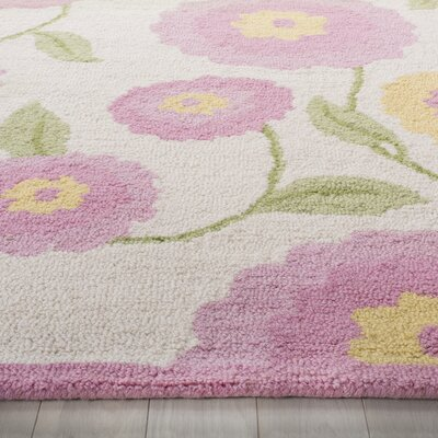 Claro Ivory & Pink Area Rug Rug Size: Rectangle 5 x 8