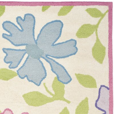 Claro Pink Flower Area Rug Rug Size: Rectangle 8 x 10