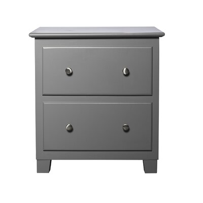 Cremeans 2 Drawer Nightstand