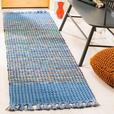 Abner Hand-Woven Blue/Gray Area Rug Rug Size: Runner 23 x 8