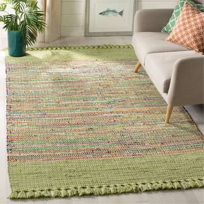 Abner Hand-Woven Green/Gray Area Rug Rug Size: Rectangle 5 x 8