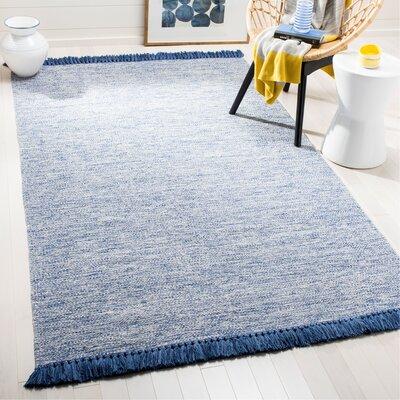 Zyra Hand-Woven Blue/Gray Area Rug Rug Size: Rectangle 5 x 8
