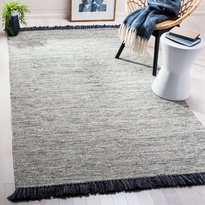 Zyra Hand-Woven Gray Area Rug Rug Size: Rectangle 5 x 8