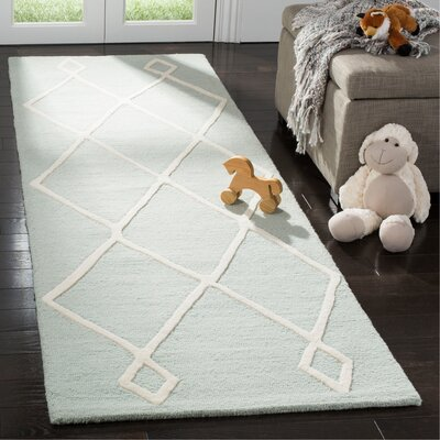 Claro Moroccan Hand-Tufted Mint Area Rug Rug Size: Runner 26 x 8