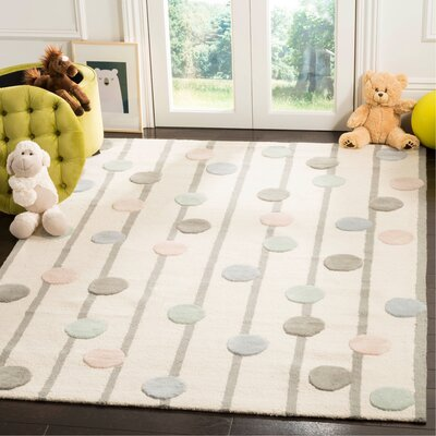 Claro Hand-Tufted Ivory Area Rug Rug Size: Rectangle 5 x 7