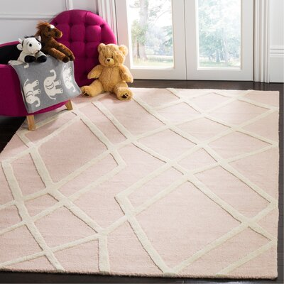 Claro Abstract Hand-Tufted Pink Area Rug Rug Size: Rectangle 5 x 7