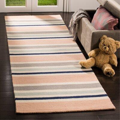 Claro Multi Stripe H-Tufted  Area Rug Rug Size: Runner 26 x 8