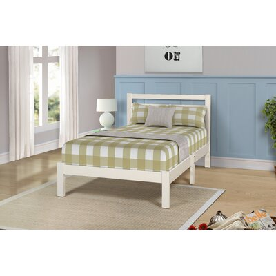 Charron Solid Twin Platform Bed Color: White