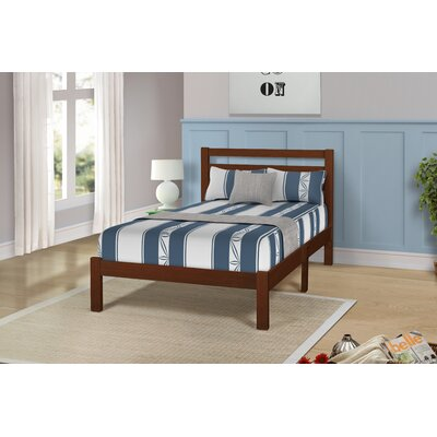 Charron Solid Twin Platform Bed Color: Walnut