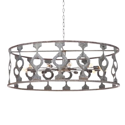 Balustrade 10-Light Drum Pendant