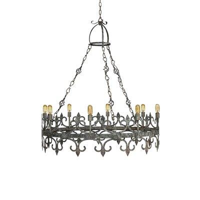 Venetian 8-Light Candle-Style Chandelier