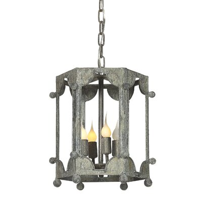 Wilmington 4-Light Lantern Pendant Finish: Distressed Gray