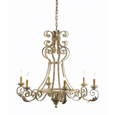 Arizona 6-Light Candle-Style Chandelier Finish: Antique Black, Size: 34 H x 34 W x 34 D