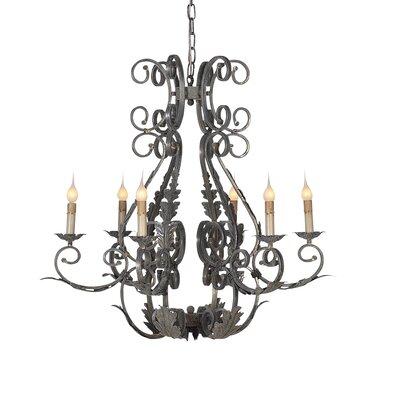 Italian 6-Light Candle-Style Chandelier