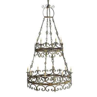 Venetian 3 Tiers 12-Light Candle-Style Chandelier