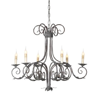 Scroll 6-Light Candle-Style Chandelier