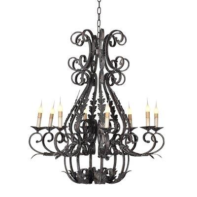 Italian 8-Light Candle-Style Chandelier