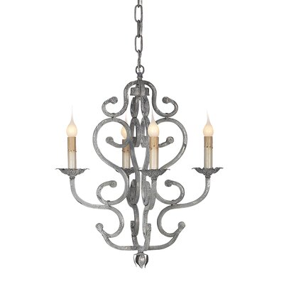 Petite French 4-Light Candle-Style Chandelier Size: 20 H x 18 W x 18 D