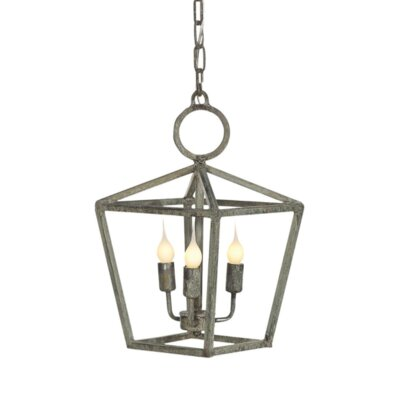 Vegas 3-Light Lantern Pendant