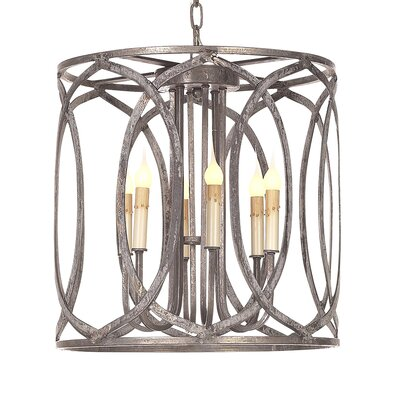 Orleans 6-Light Drum Pendant