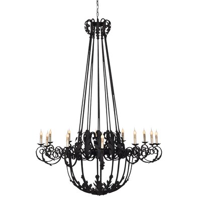 French 12-Light Candle-Style Chandelier
