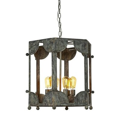 Wilmington 6-Light Lantern Pendant Finish: Gilded Gold