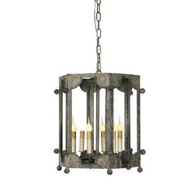 Wilmington 6-Light Lantern Pendant Finish: Rustic Brown