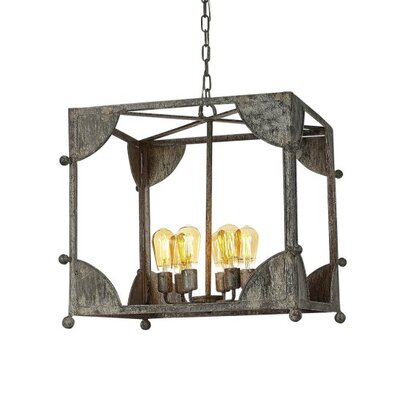 Chelsea 6-Light Lantern Pendant Finish: Rustic Brown
