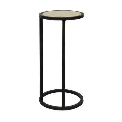 Vegas End Table Table Base Color: Antique Black