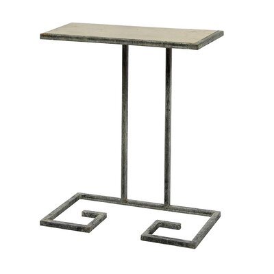 Greek Key End Table Table Base Color: Rustic Brown