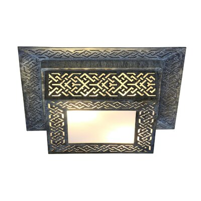 Morocco 2-Light Flush Mount Fixture Finish: Antique Black