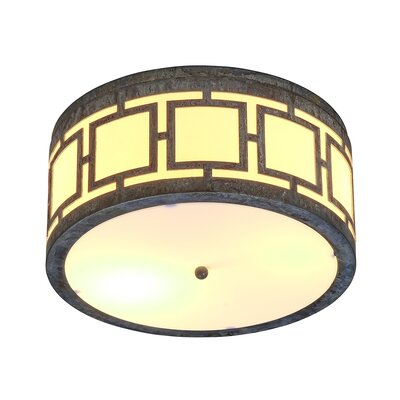 Sam 2-Light Flush Mount Fixture Finish: Deep Ocean