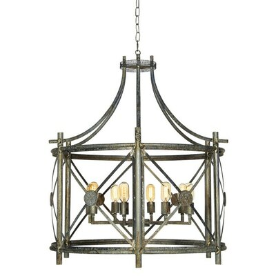 Rosette 6-Light Foyer Pendant Finish: Deep Ocean