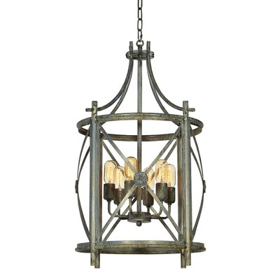 Rosette 4-Light Foyer Pendant Finish: Deep Ocean
