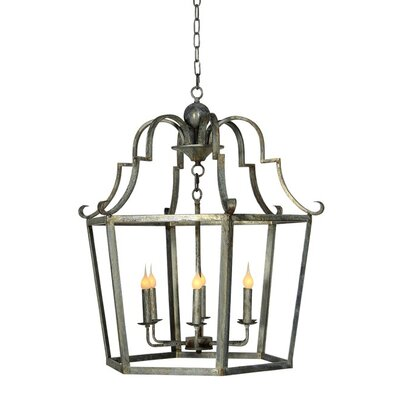 Gomez 6-Light Foyer Pendant Finish: Distressed Gray