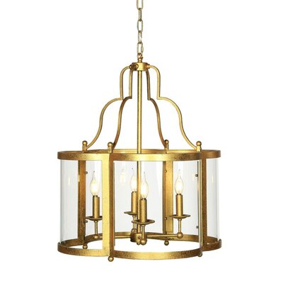 Milan 4-Light Foyer Pendant Finish: Antique Black