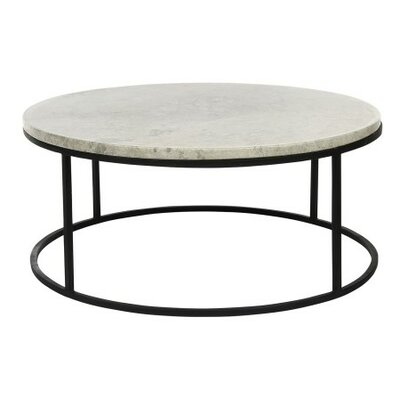 Paris Coffee Table Table Base Color: Rustic Brown, Table Top Color: Light Travertine