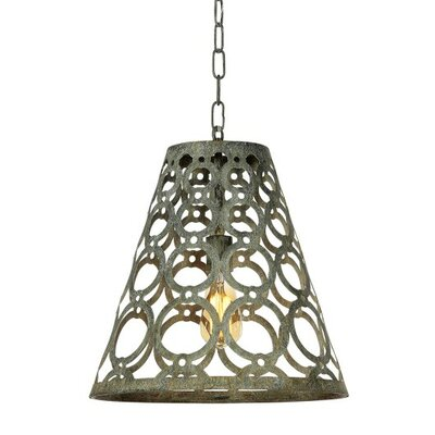 Ringlet 1-Light Mini Pendant Finish: Antique Black