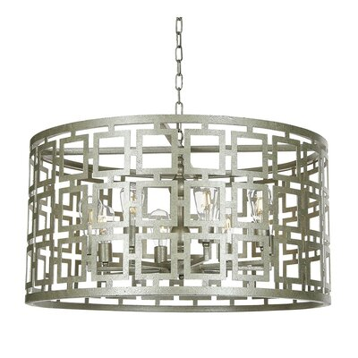 Fifth Square 8-Light Drum Pendant Finish: Rustic Brown