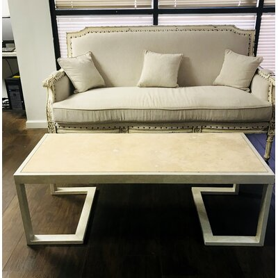 San Diego Coffee Table Table Base Color: Gilded Gold, Table Top Color: Concrete