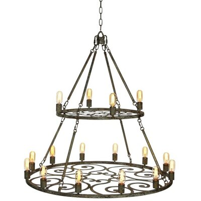 Heritage 12-Light Candle-Style Chandelier Finish: Deep Ocean