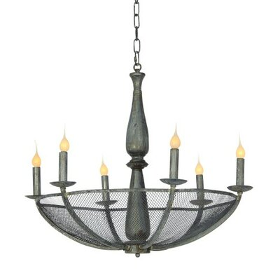 Tupelo 6-Light Candle-Style Chandelier Finish: Deep Ocean