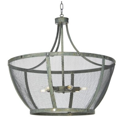 Madison 6-Light Geometric Pendant Finish: Distressed Gray