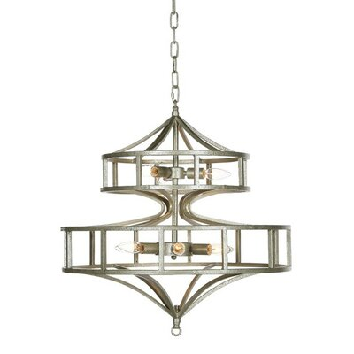 Phoenix 6-Light Drum Chandelier Finish: Distressed Gray