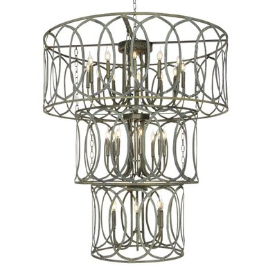 Palace 24-Light Drum Chandelier Finish: Rustic Brown