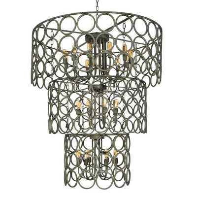 Topkapi 24-Light Drum Chandelier Finish: Deep Ocean